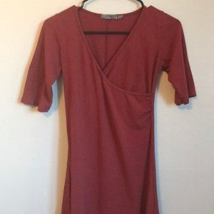 Prana short sleeve burnt orange dress sz small